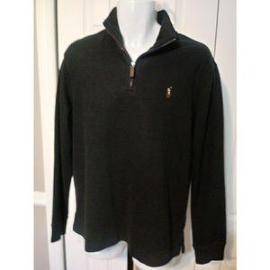 Men's Polo Ralph Lauren Black Sweater SZ Med